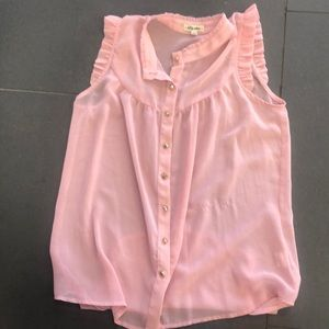 Sale 3/$20 Lily star light pink button down tank